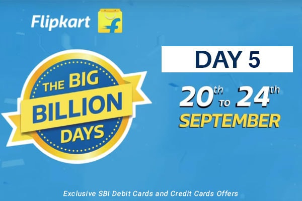 Flipkart Big Billion Days from 20th Sep-24th Sep, Day 5 Highlights of The Biggest Online Shopping Festival!