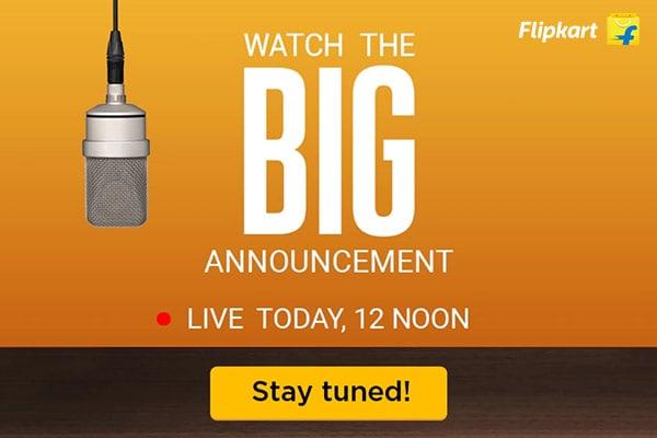 Flipkart Big Announcement!