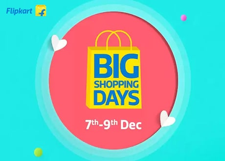 Flipkart Big Shopping Days: Bid Adieu 2017 with Amazing Flipkart Offers on Mobiles, Electronics, Home Appliances and More