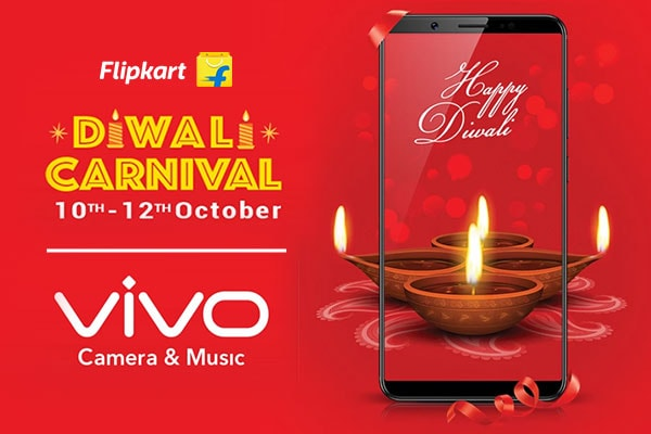 Flipkart Diwali Carnival on Vivo Smartphones from 10th to 12 th Oct, Get Ready To Click Beautified Selfies
