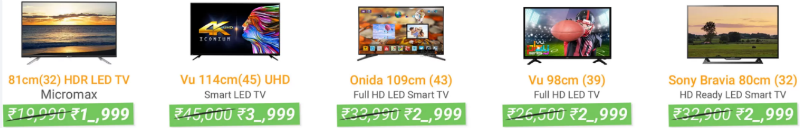 Flipkart Sale on TVs Flipkart sale offers on TVs