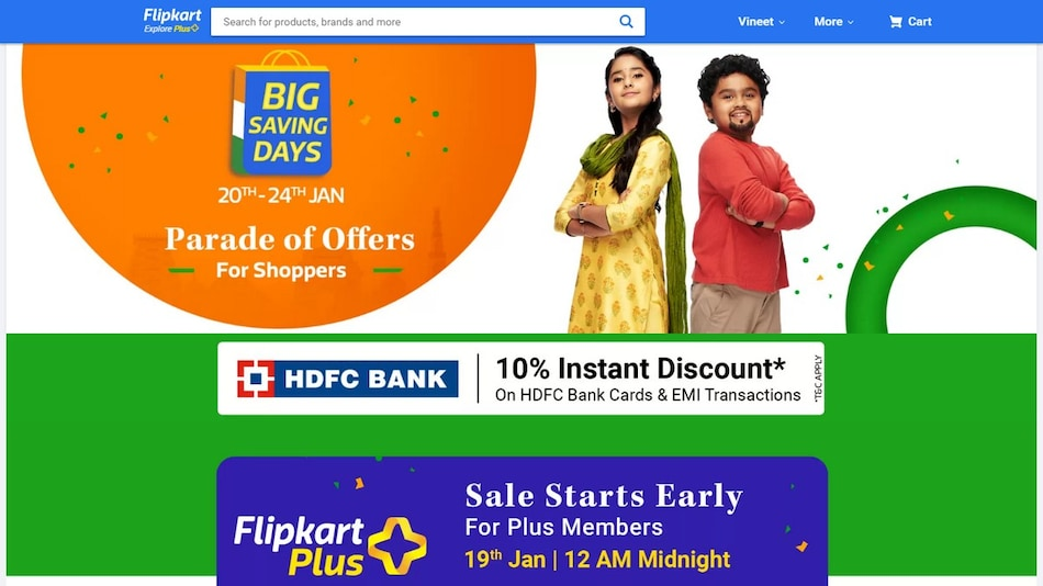 Flipkart Big Saving Days Sale to Start January 20, Discounts on Mobiles, Tablets, TVs, Other Electronics