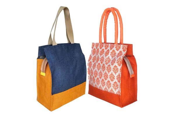 Foonty Daily Use Women Jute Lunch Bags 1611081630161