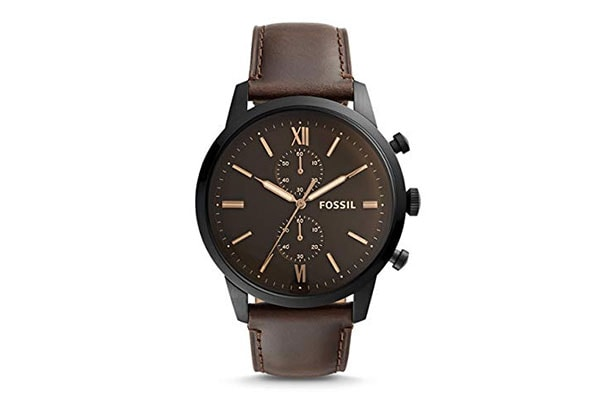 Fossil Chronograph Watch Brown Dial Strap 1613401777008