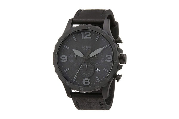 Fossil Nate Analog Black Dial Unisex Watch JR1354 1613401289179