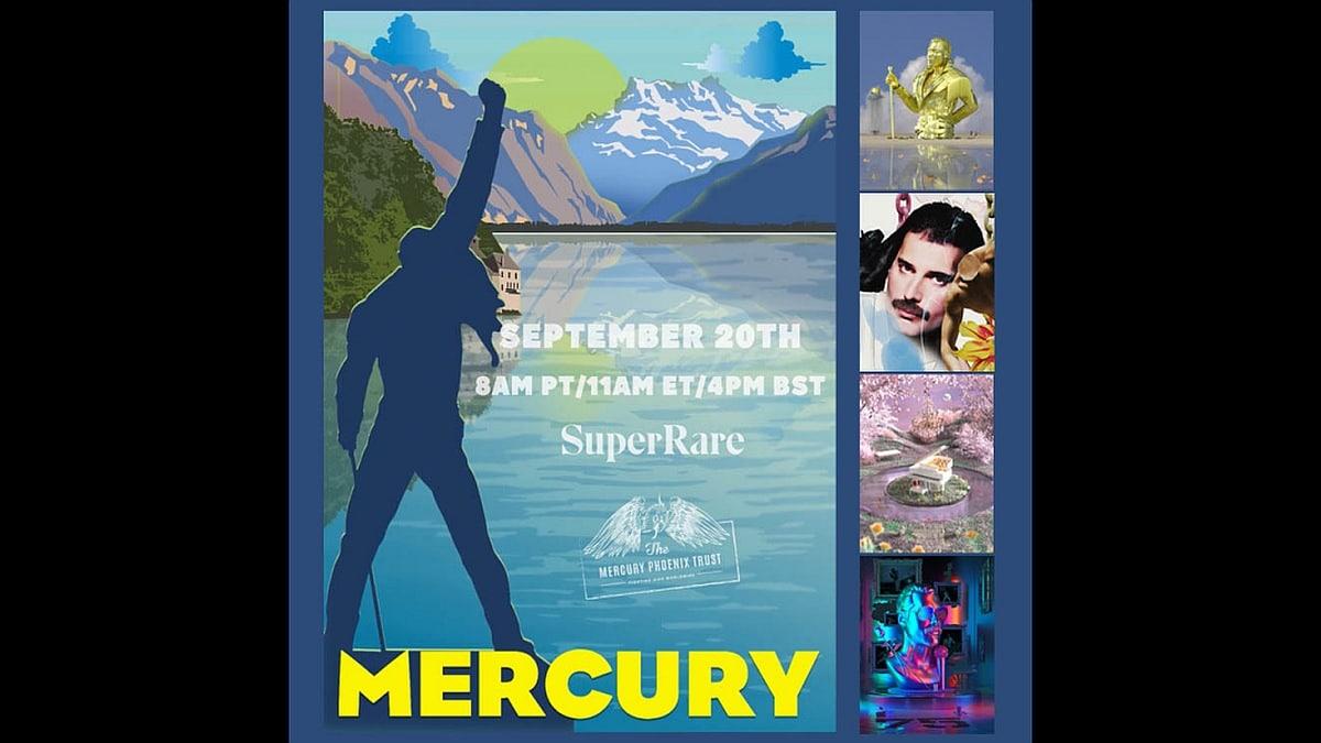 Freddie mercury NFT auction superRare 1632230721666