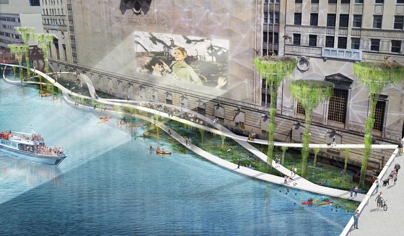 Gal 2 image 1 RiverEdgeIdeasLab Sasaki Site 1 Perspective chicago riverfront