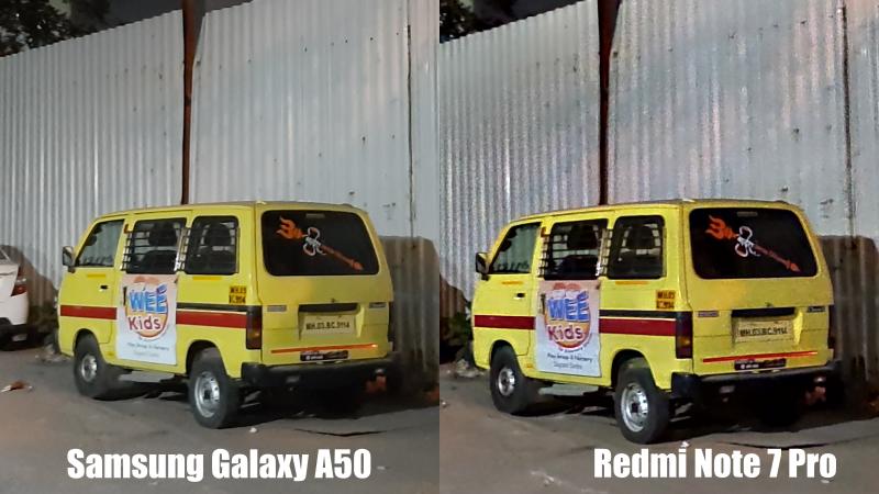 GalaxyA50vsRedmiNote7ProNight Redmi Note 7 Pro vs Samsung A50