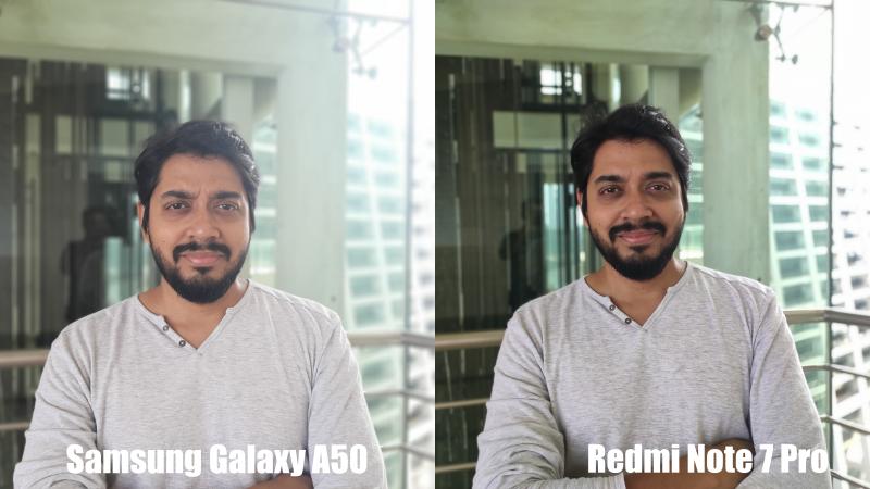 GalaxyA50vsRedmiNote7ProPortrait Redmi Note 7 Pro vs Samsung A50