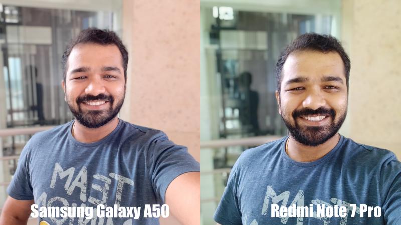 GalaxyA50vsRedmiNote7ProSelfie Redmi Note 7 Pro vs Samsung A50