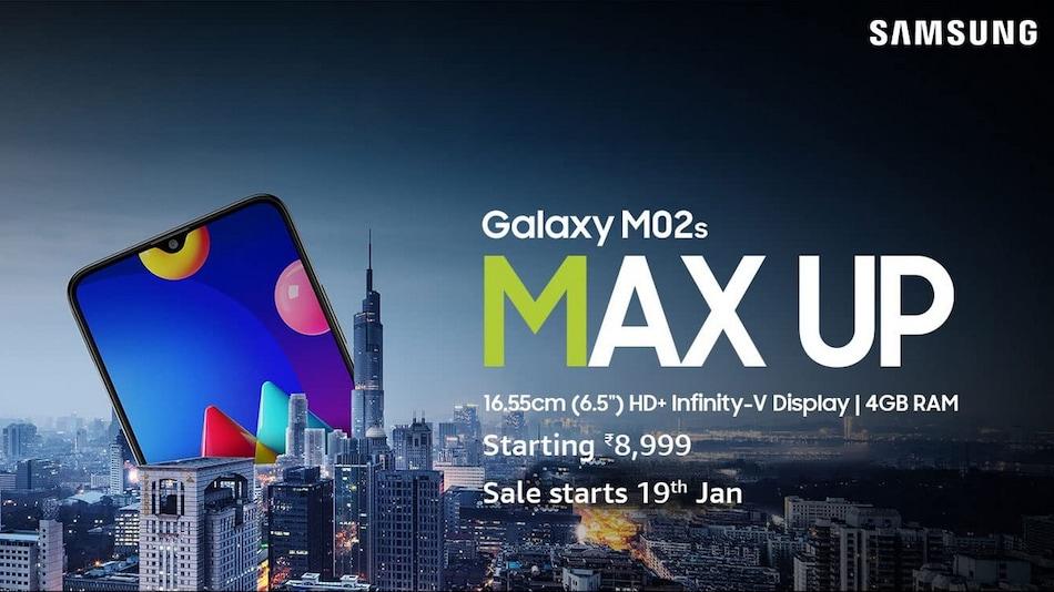 Samsung Galaxy M02s की सेल भारत में 19 जनवरी को होगी शुरू, कीमत महज 8,999 रुपये