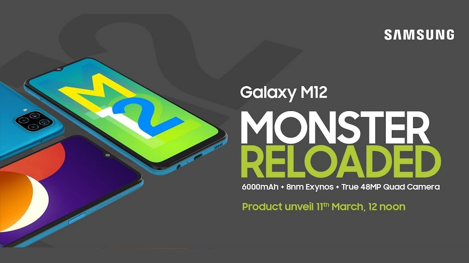 Samsung Galaxy M12 With 6,000mAh Battery, 90Hz Refresh Rate Launching in India on March 11