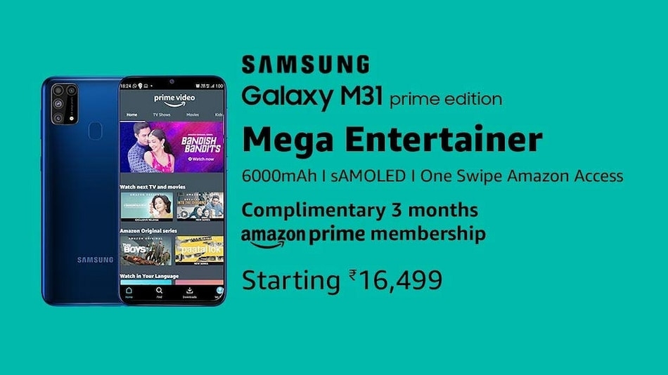 Samsung Galaxy M31 Prime Price in India Revealed via Amazon, Launching Soon