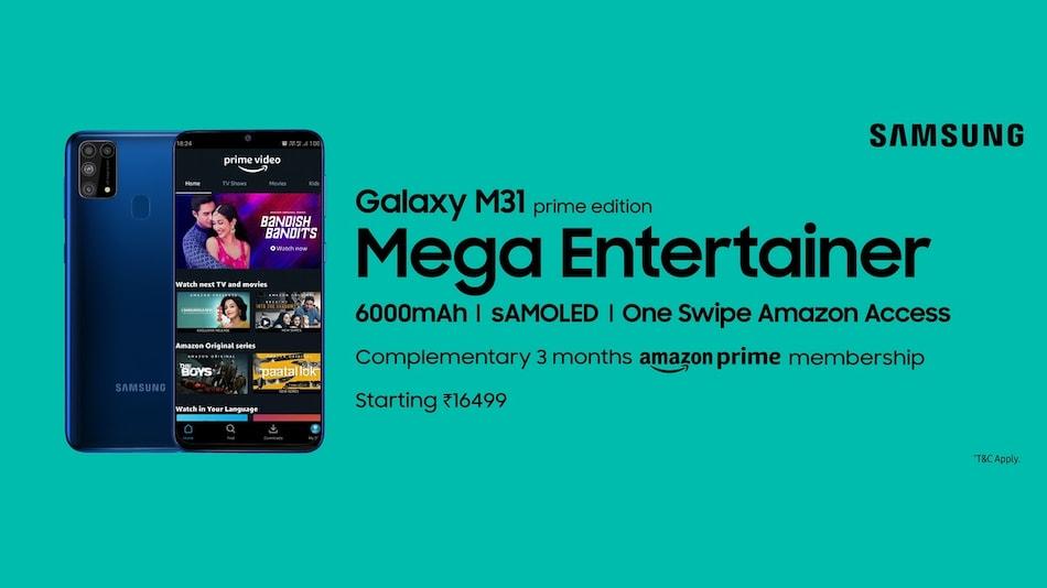 Samsung Galaxy M31 Prime भारत में लॉन्च, अमेज़न इंडिया के साथ मिलकर किया गया है तैयार