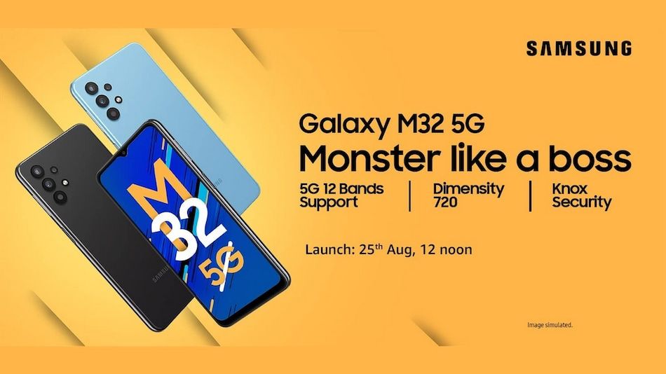 Samsung Galaxy M32 5G Launching in India on August 25 at 12 Noon; Amazon Availability Confirmed