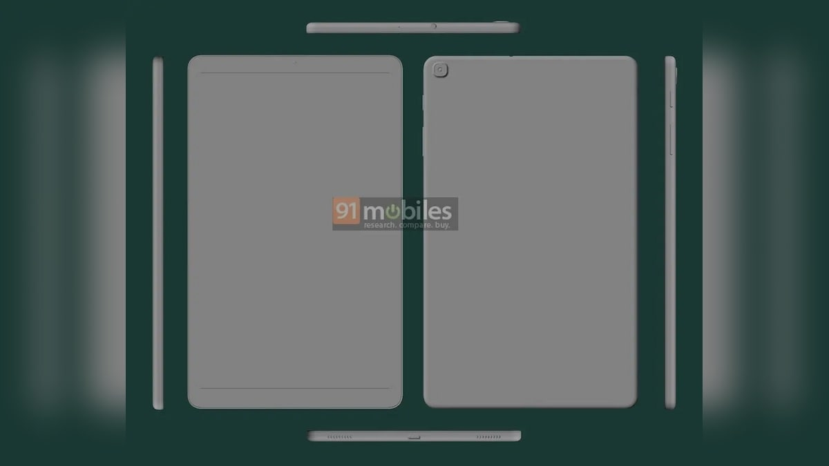 Samsung Galaxy Tab S7 Lite Could Be in Development, Galaxy Tab A 10.1 (2021) Leaked in Alleged CAD Render... - Gadgets 360