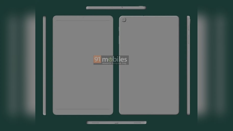 Samsung Galaxy Tab S7 Lite Could Be in Development, Galaxy Tab A 10.1 (2021) Leaked in Alleged CAD Renders
