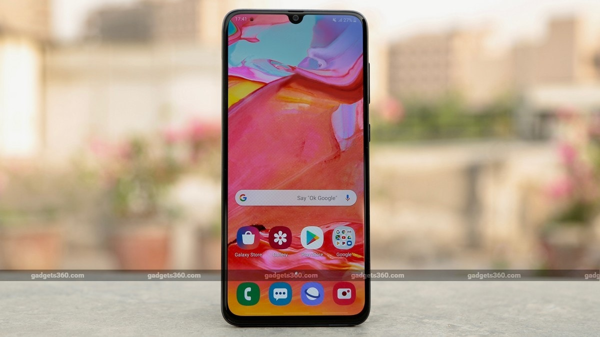 Samsung Galaxy A70 Update in India Brings May Security Patch, Improves Camera and In-Display Fingerprint Sensor Performance