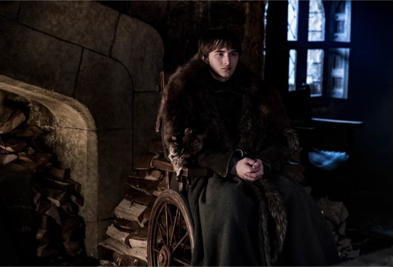 Game of Thrones season 8 episode 2 (2) Isaac Hempstead Wright Bran Stark Game of Thrones season 8 episode 2