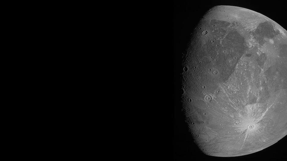 NASA's Juno Spacecraft Captures Jupiter's Biggest Moon Ganymede in Spectacular Photos