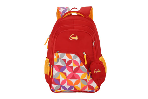 Genie Spray 36 litres Red School Backpack for Girls 1614875259690
