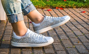 Shimmery, Glittery Sneakers : The Fashion Trend You Have Missed