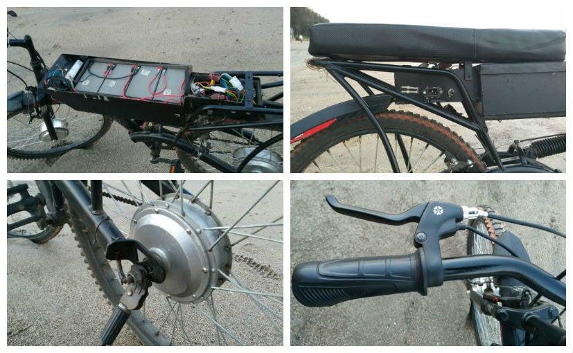 Global Renergy E-bike details collage