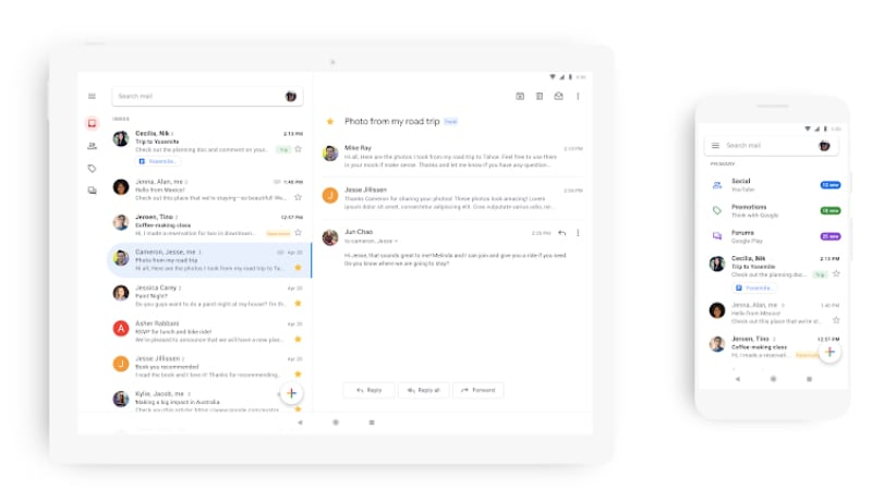 Gmail's Mobile App Starts Receiving Material Theme Redesign, No Dark
