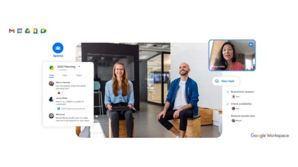 Gmail App Is Getting the Ability to Make Voice, Video Calls in Major Update; Google Spaces Rollout Begins