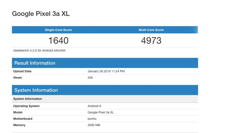Google Pixel 3 XL Lite Allegedly Spotted on Geekbench Again, This Time With 4GB RAM