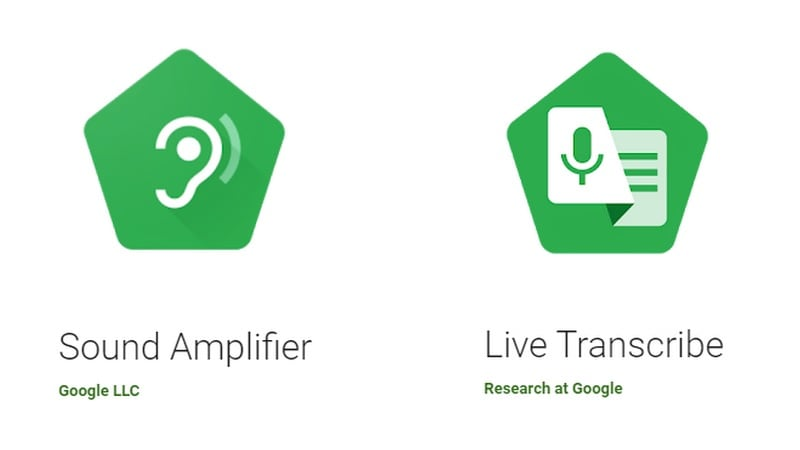google live transcribe sound amplifier apps launched for people with hearing impairment. Black Bedroom Furniture Sets. Home Design Ideas