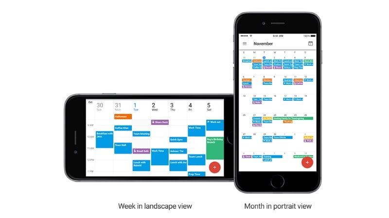 Google Calendar for iOS Gets Landscape Mode for Month and Week Views, Spotlight Search, and More