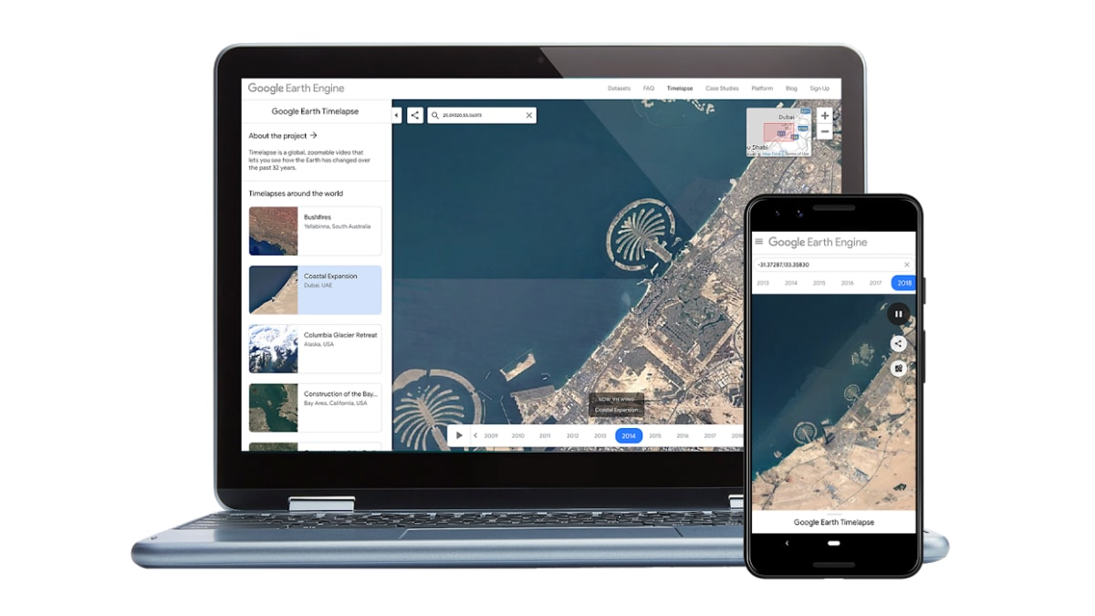Google Earth Timelapse Comes to Mobile With Improvements