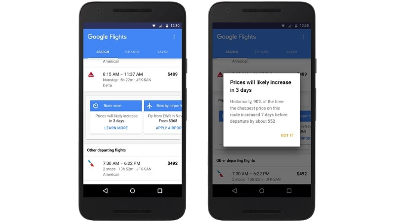 Google Will Help You Book Cheaper Air Tickets by Telling You When Fares Will Increase