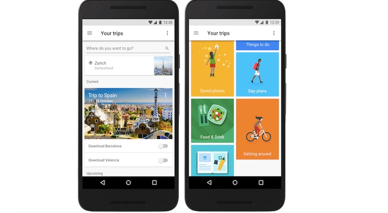 Google 39 s trips app plans your vacations so you don 39 t have for Site plan app