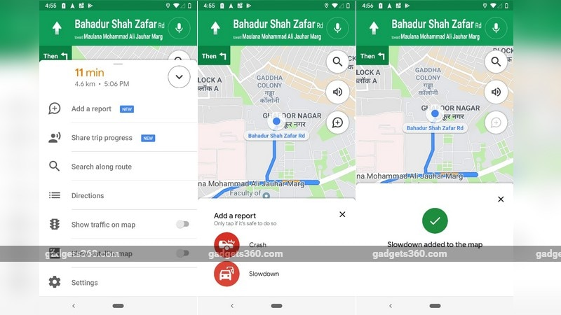 Google Maps for Android Now Lets You Report Traffic Slowdowns