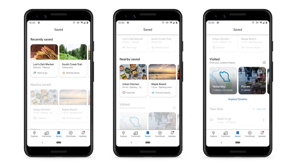 Google Maps Gets Redesigned 'Saved' Tab With Carousels for Easier Access to Locations