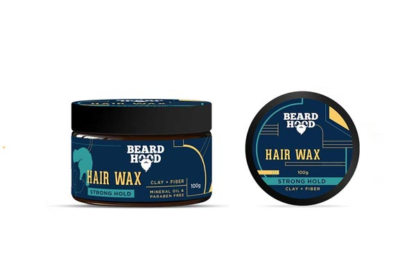 Beardhood Clay & Fiber Strong Hold Hair Wax For Men, Natural Look