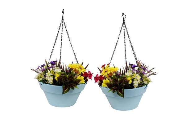 Wonderland Set of 2 Hanging Planter/Pots with Metal Chain