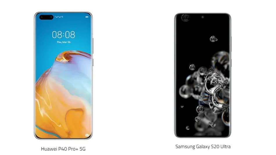 Huawei P40 Pro+ vs Samsung Galaxy S20 Ultra: Price, Specifications Compared
