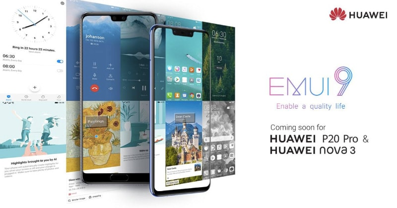 Huawei P20 Pro, Huawei Nova 3 to Get Android Pie-Based EMUI 9 Update in India Soon