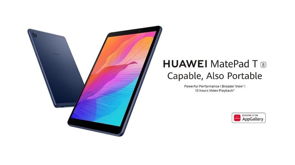 Huawei MatePad T8 With 5,100mAh Battery, MediaTek Octa-Core SoC Launched in India