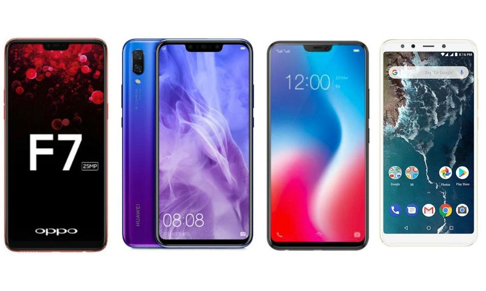 Huawei Nova 3i vs Xiaomi Mi A2 vs Vivo V9 vs Oppo F7: Price in India, Specifications Compared