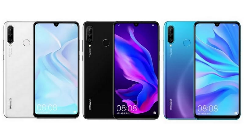 Huawei Nova 4e Alleged Press Renders Tip Triple Rear Cameras, Waterdrop Notch, and 3 Colour Options