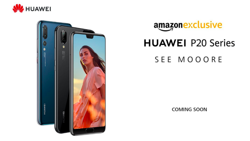 Huawei P20 Pro, P20 Lite Will Be Exclusive to Amazon India