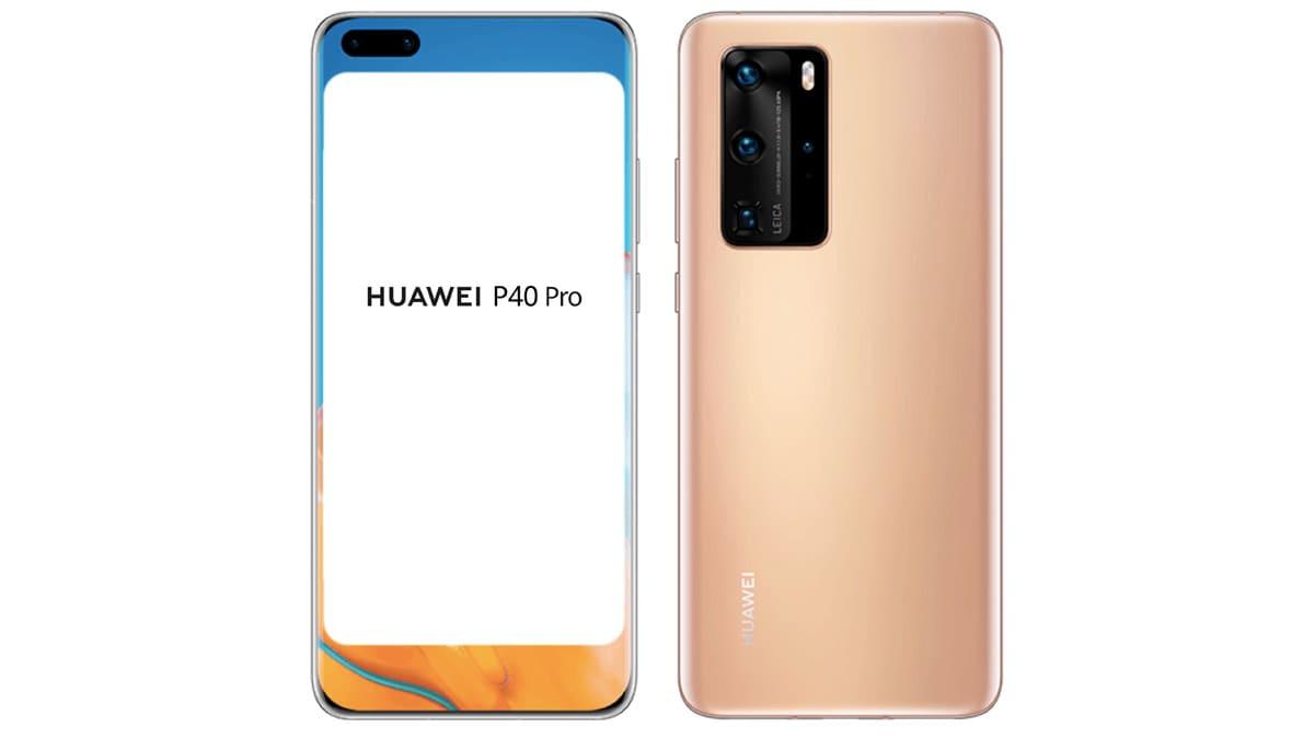 Huawei P40 और P40 Pro के कथित रेंडर्स लीक, डिज़ाइन की मिली झलक