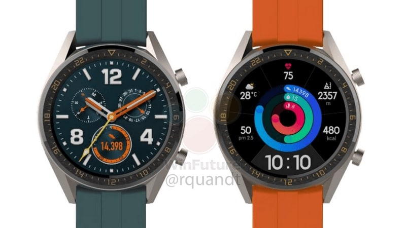 Huawei Watch GT Active and Watch GT Elegant Leaked, Tipped to Launch Alongside Huawei P30 Series
