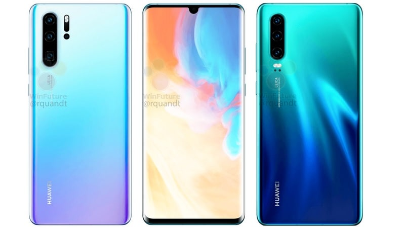 Huawei P30 Pro Leak Tips Quad Rear Cameras, Curved Display; Alleged Huawei P30 Renders Also Surface
