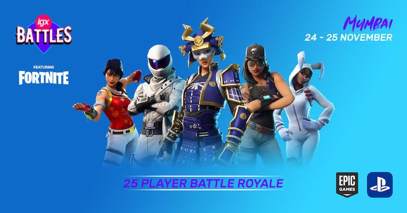 India's First Fortnite PS4 Tournament to Take Place at the Indian Games Expo in Mumbai This Month