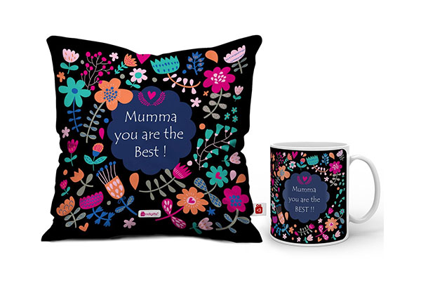Indigifts Mumma You are Best Quote Artistic Floral Doodle Multi Mug 1611110159977